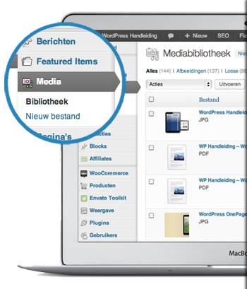 WordPress Handleiding Onderwerpen - wordpress elementen