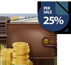 WordPress Handleiding Affiliate vergoeding van 25%