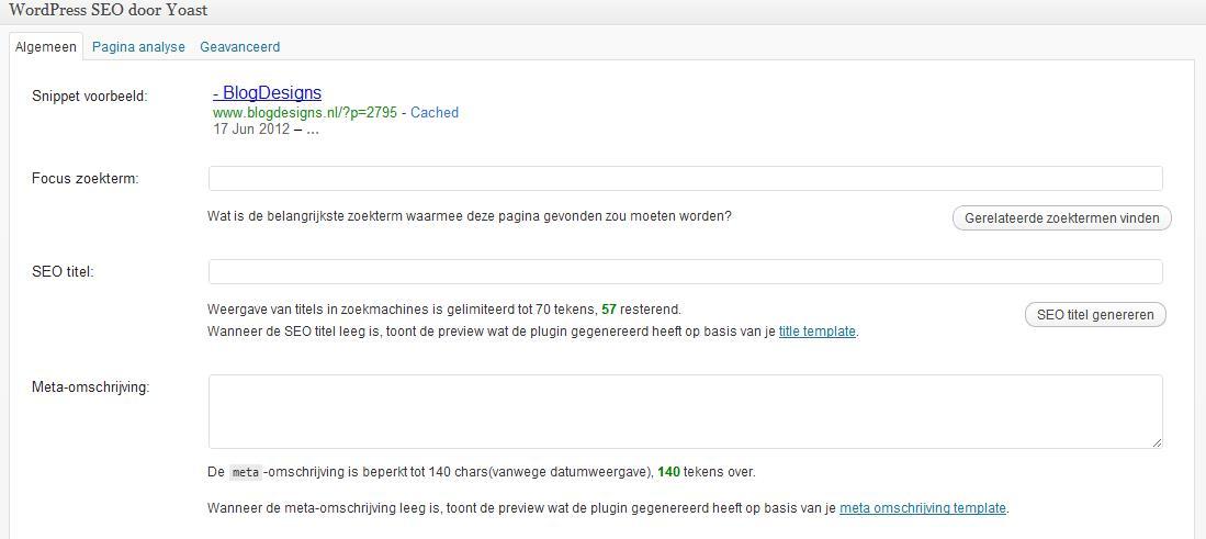 WordPress SEO zoekmachine optimalisatie 2