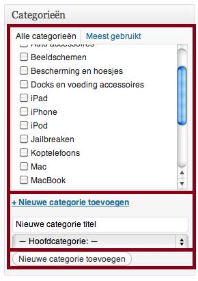 WordPress categorieen