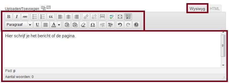 Wordpress bericht schrijven