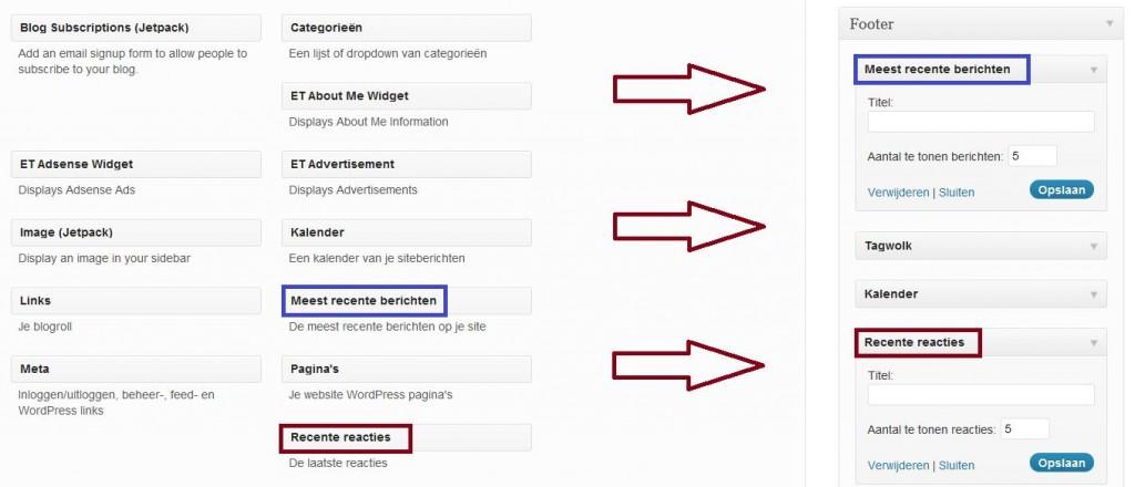 Hoe activeer ik een widget op mijn WordPress website
