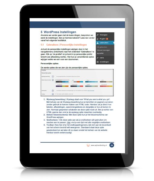 WP HANDLEIDING WordPress Handleiding Voorbeeld 2