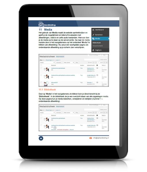 WP HANDLEIDING WordPress Handleiding Voorbeeld 3