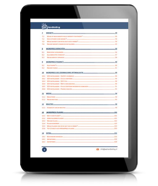 WP HANDLEIDING WordPress Handleiding Voorbeeld 4