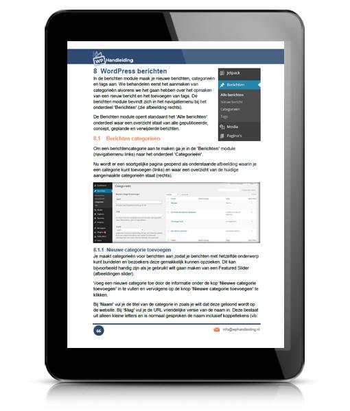 WP HANDLEIDING WordPress Handleiding Voorbeeld 5