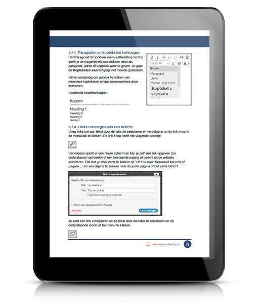 WP HANDLEIDING WordPress Handleiding Voorbeeld 6
