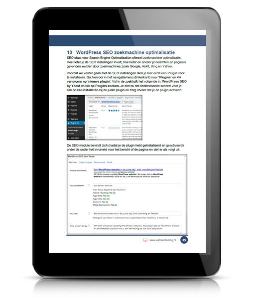 WP HANDLEIDING WordPress Handleiding Voorbeeld 7
