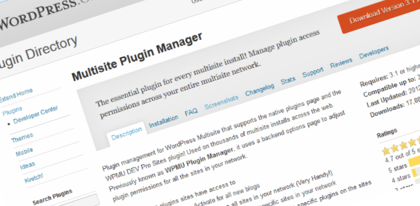 WordPress Multisite plugin