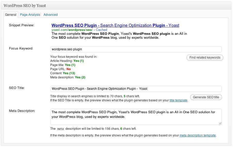 WordPress SEO Plugin WordPress SEO by Yoast