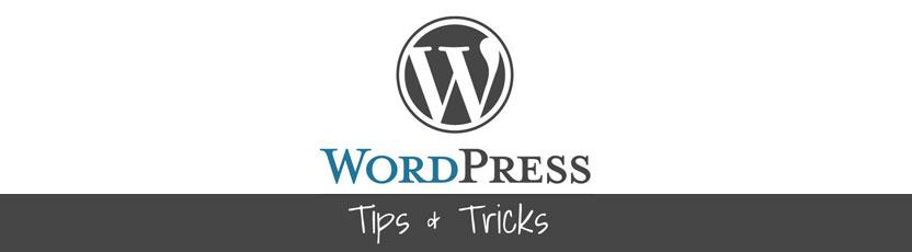4 wordpress tips