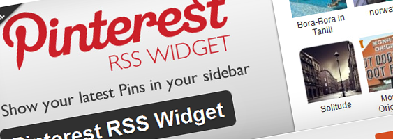 Pinterest wordpress widget