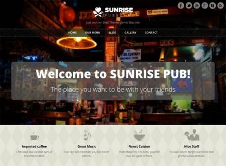 Sunrise thema wordpress
