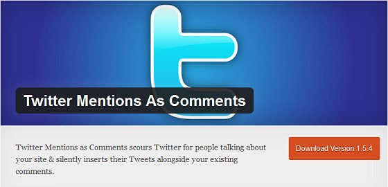 Twitter Mentions as Comments voor WordPress