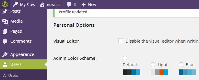 Wordpress menu kleuren wijzigen