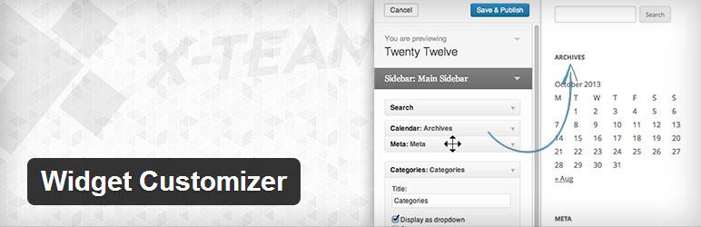 widget customizer in WordPress 3.9