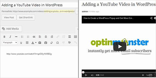 youtube video toevoegen aan wordpress