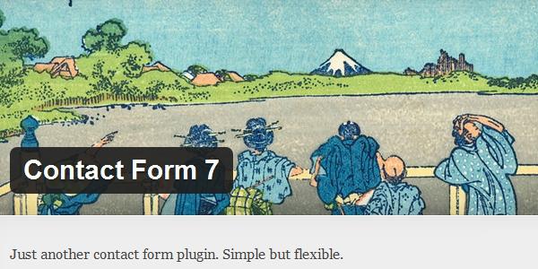 Contact Form 7 plugin voor contact formulier voor WordPress