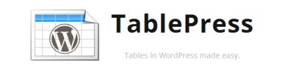 TablePress WordPress plugin