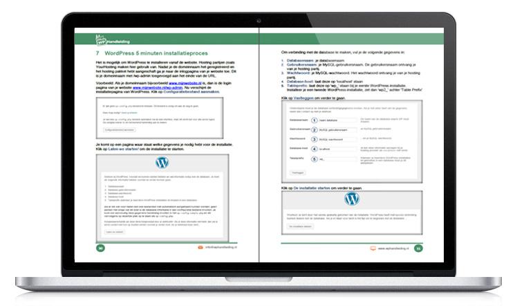 WP Handleiding WordPress installeren voorbeeld