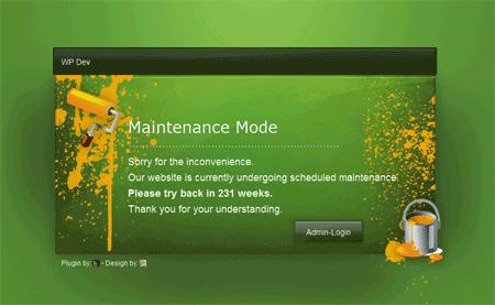WP Maintenance Mode voor WordPress