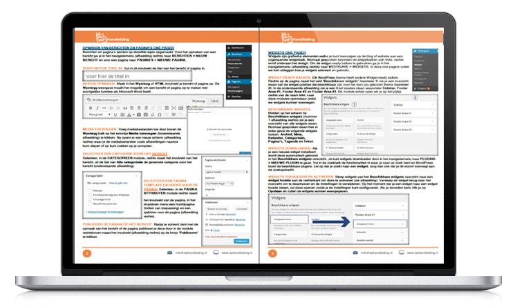 WP Handleiding OnePagers handleiding voorbeeld