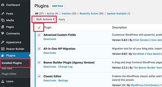 plugin probleem wit scherm wordpress