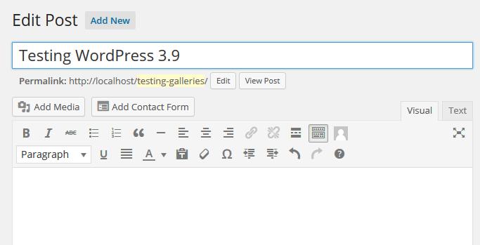 Testing WordPress 3.9 WP Handleiding