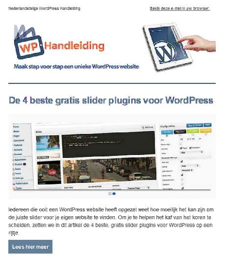 WordPress Nieuwsbrief