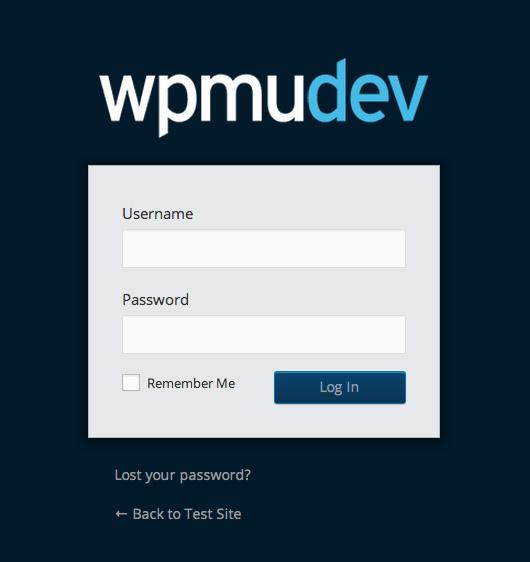 persoonlijke WordPress inlogpagina code hulp
