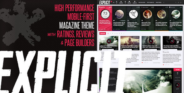 Explicit magzine stijl wordpress thema