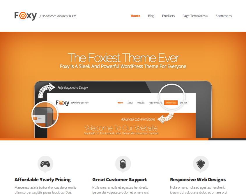 Foxy WordPress Thema