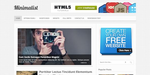 Minimalist WordPress Magazine stijl thema