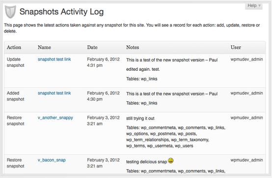 Snapshot plugin - backup voor je wordpress website