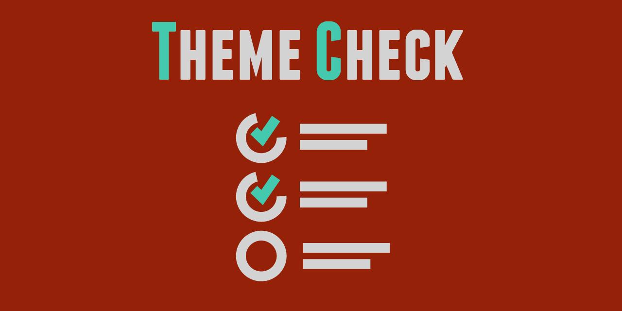 WordPress theme check plugin voor het checken van je thema