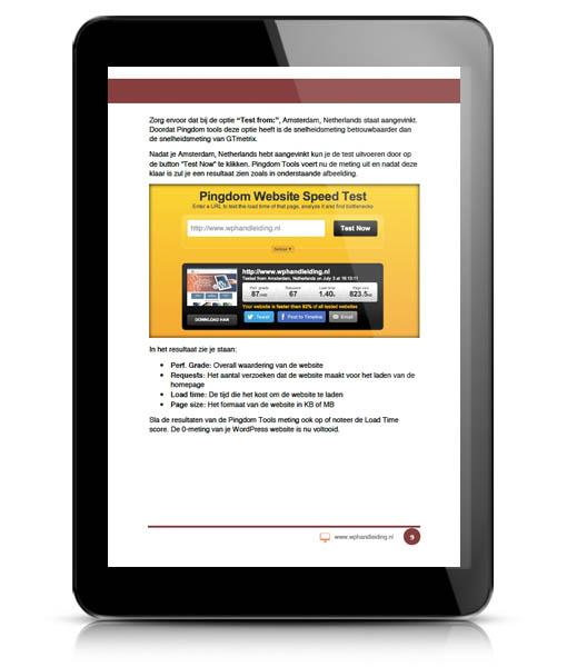 WP HANDLEIDING WordPress Optimalisatie voorbeeld 2
