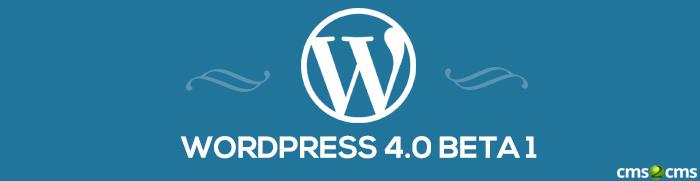 WordPress 4.0 beta 1