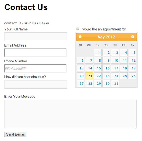 WordPress contact formulier BigContact-Contact-Page