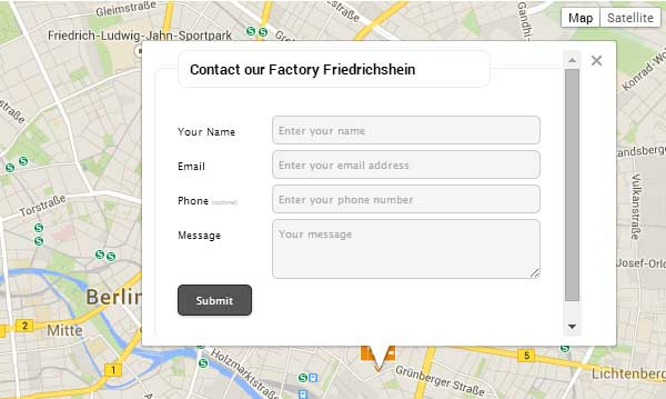 WordPress contact formulier Mapped-Contact-Form-Pro