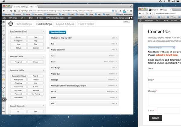 WordPress contact formulier Ninja-Forms