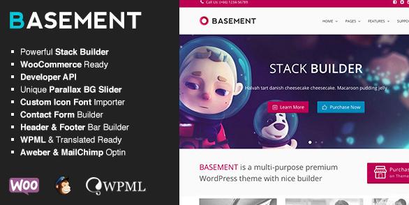 Basement zakelijk WordPress thema
