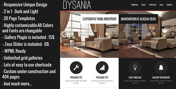 Dysania zakelijk WordPress thema
