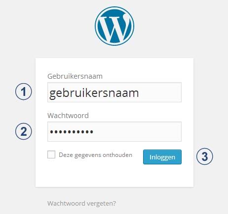 WordPress Instellingen - Inloggen in WordPress