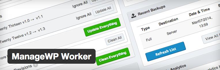ManageWP WordPress backups maken