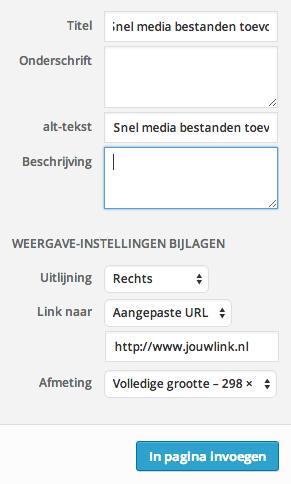 Afbeeldingen laten link in een WordPress bericht