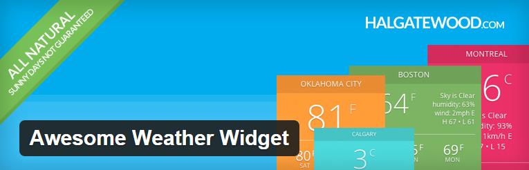 Awesome weather widget voor wordpress