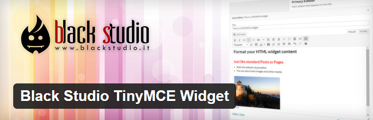 Black Studio TinyMCE Widget voor wordpress