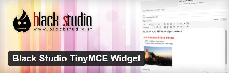 Black Studio TinyMCE Widget voor wordpress