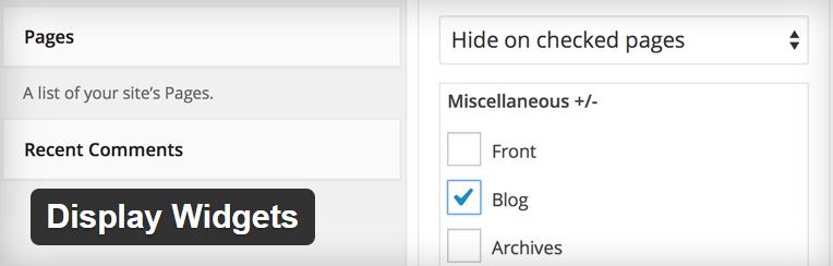 Display widgets voor wordpress