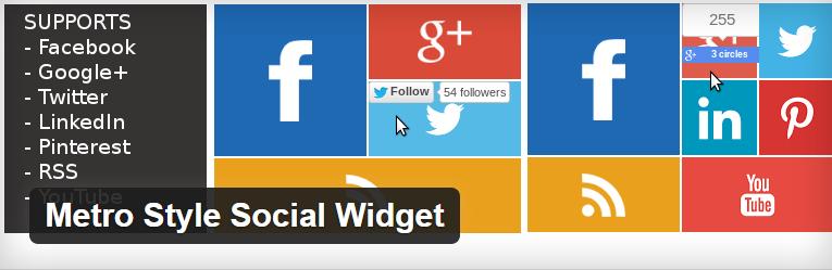 Metro Style Social Widget voor wordpress